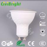 projecteur lisse de lampe de la courbe DEL de couverture de PC de Dimmable d'ampoule de 6W GU10 DEL