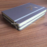 착색된 가장자리 인쇄를 가진 주문을 받아서 만들어진 금 각인 로고 A5 단단한 덮개 노트북