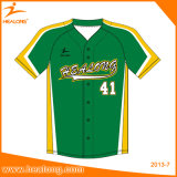 Healong Free Design Color Sublimation Dernier style Man Baseball Jersey Shirts