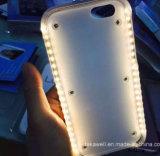 Caisse de luxe chaude neuve de téléphone de Luminated DEL avec le côté dur de pouvoir de caisse de PC de Selfie pour le cas de couverture de téléphone cellulaire de l'iPhone 5/5s/Se/6