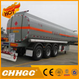 Semi-Trailer do petroleiro da gasolina do aço de carbono 3axle de Chhgc 40cbm