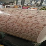 Prapainted galvanizó la anchura de acero PPGI de la bobina 700-1250m m para el grano de madera