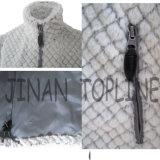 Куртка шерсти фальшивки шерсти Faux женщин