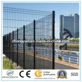 Frontière de sécurité soudée enduite par PVC du treillis métallique 358