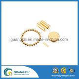 Goldbeschichtung-Platte NdFeB Magnet-rundes Neodym magnetisch