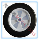 6X1.5 단단한 고무 타이어 Dolly 손수레 바퀴