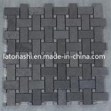 フロアーリングおよび築壁のための黒い性質の玄武岩のモザイク・タイル