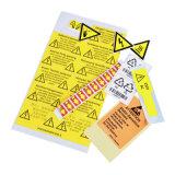 경고 레벨 또는 화살 레이블 또는 안전 물개 스티커를 인쇄하는 OEM 레이블 공장 풀 컬러