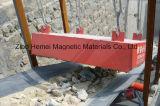 De Permanente Magnetische Separator van de opschorting voor de Transportband van de Riem, het Vlekkenmiddel van het Ijzer