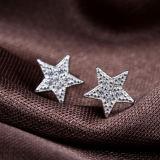 女性の方法ローズの金の星および月の整形イヤリング