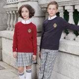 Beaux chandails faits sur commande de Caridgan d'école de V-Collet uniformes