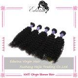 Extensão 100% Kinky indiana do cabelo humano de Remy da onda do cabelo humano do Virgin