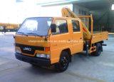 Jmc 2 T 기중기로 거치되는 망원경 기중기 4*2 두 배 택시 트럭