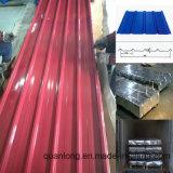 PPGI PPGL prepintó la hoja acanalada coloreada del material para techos