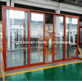 外部ドアを滑らせるオーストラリアの標準二重ガラスアルミニウム