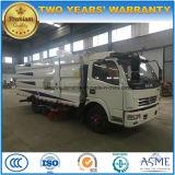 Spazzatrice di lavaggio del camion 5m3 della strada di vuoto delle rotelle di Dongfeng 6