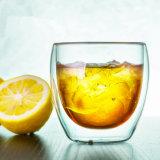 doppel-wandiges 250ml Kaffeetasse-orange Glaswhisky-Glas