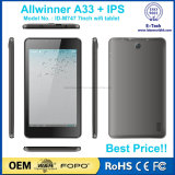 Tablette PC bon marché stockée du WiFi 7inch de la mémoire M747 du faisceau 512MB+8GB de quarte de l'écran 800*1280 P+G Tp A33 d'IPS