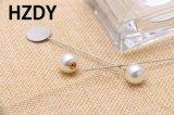 Pin del risvolto/Brooch con la cialda e la perla di 1.50cm