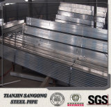 Vor galvanisiertes Stahlgefäß und Rohr des quadratischen Gi-Q195 für Zaun-Pfosten