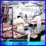 牛虐殺機械屠殺場の黒のBullの牛食肉処理場の生産ライン装置の機械装置