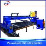 Máquina de estaca do CNC da tubulação e da placa do perfil do aço de carbono do pórtico Kr-Xgb para o plasma