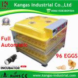 Incubateur multifonctionnel automatique approuvé de 96 oeufs de la CE mini avec le certificat de la CE