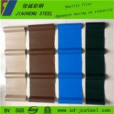 Chapa de aço ondulada personalizada da cor, chapa de aço Prepainted de Glvanized