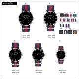 昇進のスポーツのステンレス鋼の方法女性Men's Watches Quartz Nylonの腕時計