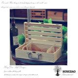 Caso de madera de encargo del almacenaje del vino de Hongdao con el embalaje Wholesale_L