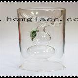 De duidelijke Kleurrijke Houder/de Kandelaar van de Kaars van het Glas