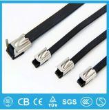 高品質100PCS 4.6mmx400mmの自動閉鎖ステンレス鋼のジッパーケーブルのタイロックのタイの覆い