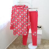 Ensemble 100% polaire micro de vêtements de nuit d'ouatine de bonne qualité de polyester