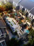 rappresentazione architettonica di disegno esterno 3D di ad alto livello