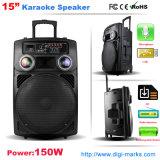 Bestseller Spreker van het Karretje van de Karaoke van de Gitaar van 15 Duim de Waterdichte Mobiele