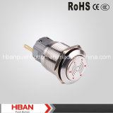 CE RoHS de Hban (19mm) Stainless Steel 12V Metal Illumination Flalsh Buzzer
