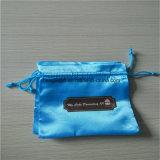 Malote feito sob encomenda do envoltório da jóia do cetim dos sacos e dos malotes da tela