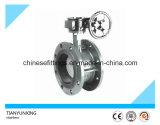 DIN/API Getriebe-Doppeltes flanschte Exzenterdrosselventile