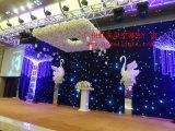 Fabricante LED Curatin de la luz de la etapa del LED con las estrellas