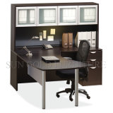 Ejecutivo de la forma de la primera tarifa U con el vice escritorio de oficina del cabinete de archivo (SZ-OD353)