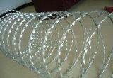 Горячий окунутый гальванизированный провод ленты бритвы колючий