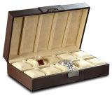 Nueva llegada de la venta caliente del cuero del rectángulo cajas de reloj