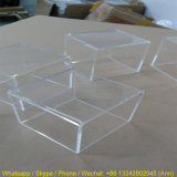 Casella trasparente su ordinazione della radura del contenitore di cubo della visualizzazione del perspex, scatola di presentazione acrilica