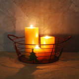 Supporto di candela della colonna della decorazione di natale del metallo con gli alberi di Natale