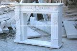 Weiße Carrara-Hand geschnitzter Marmorkamin-Kaminsims Sy-Mf319