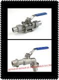 шариковый клапан сварное соединение встык соединения 3-PC, 304/316