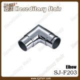 Cotovelo fêmea do aço inoxidável de 90 graus para o encaixe do corrimão (SJ-F203)