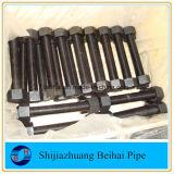 Tornillo del tornillo y del espárrago de las tuercas ASTM A193 GR B7 con la tuerca Hex