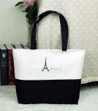 Sac à provisions non-tissé de papier de traitement de toile de coton de cuir de sac à provisions de cadeau (X025)