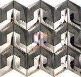 黒および銀の混合されたステンレス鋼のモザイク(CFM997)